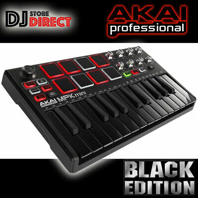 Akai MPK Mini Mk2 Compact MIDI USB Keyboard Controller in Limited Edition BLACK