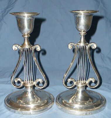 Harrison Brothers & Howson George Howson English Sterling Candle Holders 1909
