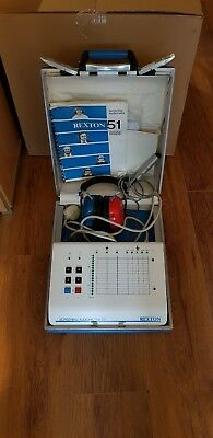 Rexton Screening Audiometer 51 With Original Box,headphones, Manual And Clicker