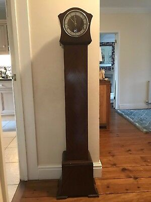 1930s Art Deco Longcase Granddaughter Clock by Perivale 'Anvil' (restoration)