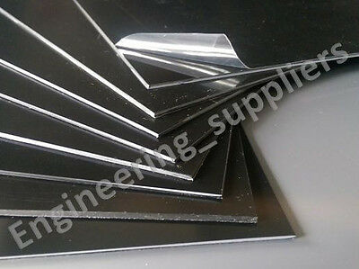 1mm A5 Black Polystyrene High Impact Plasticard HIPS Sheet Packs of 1, 3, 5 & 10