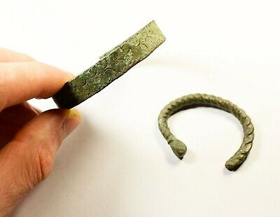 Ancient Viking To Medieval Bronze Bracelets - WEARABLE ARTIFACTS - LOT OF 2