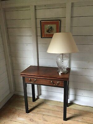 Mahogany Console Hall Side Writing Table With Drawer & Fold out Gate Leg