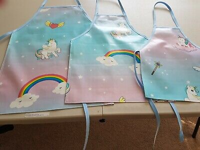 Unicorn Childrens Aprons 3 Sizes Pvc Wipe Clean Patterns Will Vary