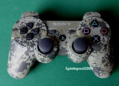1 original Sony Playstation 3 Dualshock 3 CAMOUFLAGE kabelloser Controller PS3