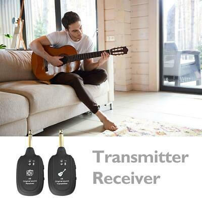 UHF Guitar Wireless System Transmitter Receiver Built-in Rechargeable Portable