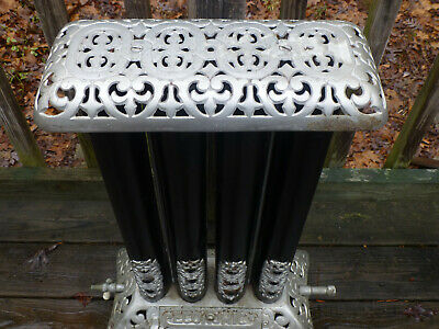 Antique Vintage Art Deco Jeweled Gas Radiator Heater Plant Stand Victorian Home