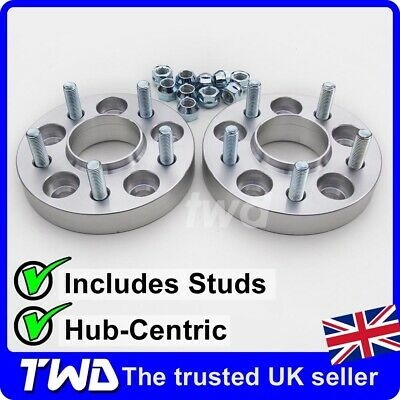 25Mm Hub-Centric Alloy Wheel Spacers For Ford Mondeo Mk3 Mk4 5X108 63.4 St [2Lx]