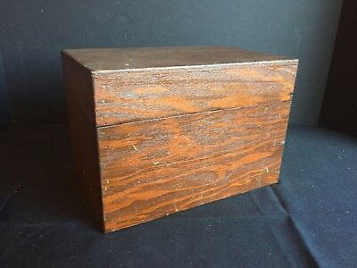 Antique Vintage Small Wooden Box Chest