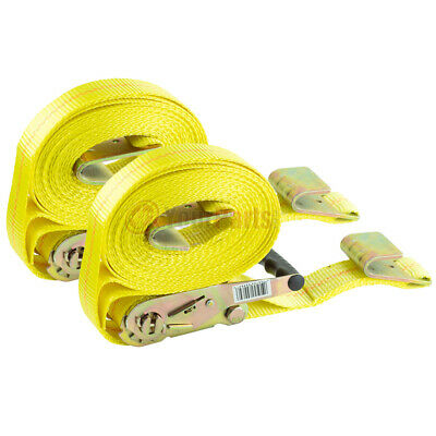 """2 Pc 27 FT X 2"""" HD Ratchet Nylon Tie Down Strap 10000 LBS Cargo DOT/CHP Rated"""
