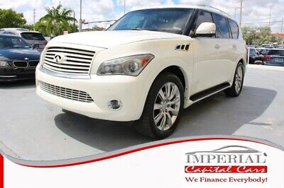 2011 QX QX56 Sport Utility 4D WHITE INFINITI QX with 105,813 Miles available now!