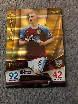 Match Attax Ultimate 2018/19 Ben Mee Captain No 104 Mint
