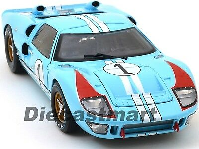 1966 Ford GT-40 Mk 2 #1 Blau 1:18 Druckguss Modell Auto Shelby Collectibles