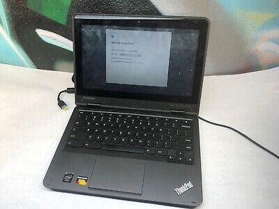 "Lenovo YOGA ThinkPad 11e Chromebook Quad Core 11.6"" 4GB 16GB TOUCHSCREEN"