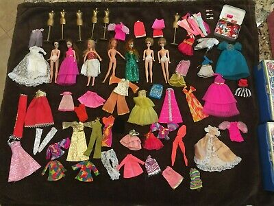 Dawn dolls and clothing and shoes with case