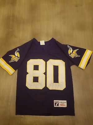 3f7264839 Vintage  80 Cris Carter Minnesota Vikings NFL Football Jersey Logo 7 Youth  Sz S