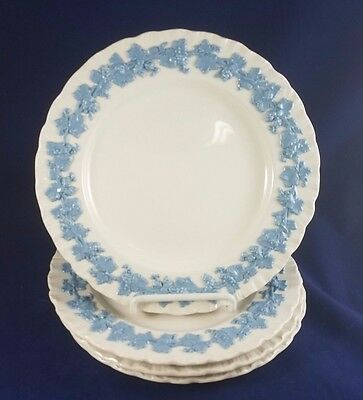 "Wedgwood  LAVENDER COLOR ON CREAM (shell edge) Salad Plate 8 1/4""Set of 4"