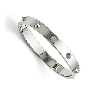 Stainless Steel 7in Polished with Spikes Bangle