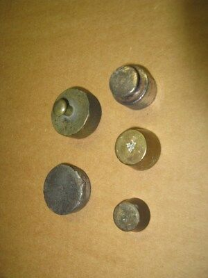 5 Antique, Vintage and Very Old Weights, Various Origins, Materials and Size.