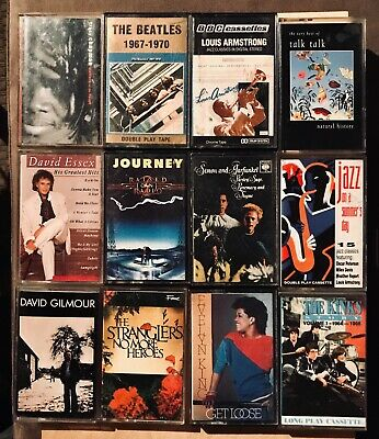 Job Lot of 12 Mixed & Assorted Rock & Pop Music Cassette Tapes  - LOT 3.