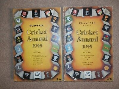 Playfair Cricket Annual 1948 & 1949 Peter West