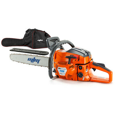 "72cc Petrol Commercial Chainsaw 22"" Bar Chain Saw E-Start Tree Pruning"