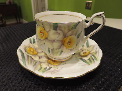 Royal Albert Bone China Flower of Month Daffodil No 3 Hand Painted Cup & Saucer