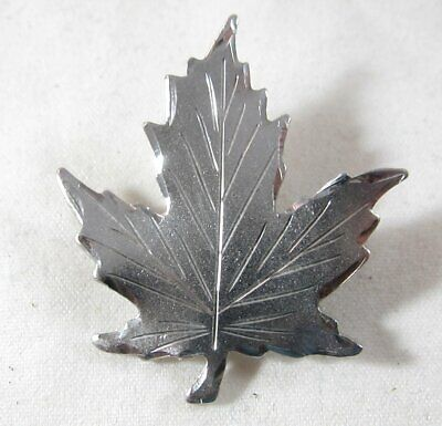 Fine Jewelry Sterling Silver 925 Cascading Graduated Fall Maple Leaves Leaf Brooch Pin