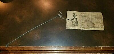Vintage Late 1800's Early 1900's Vacuum Sweeper Instructions Card Antique