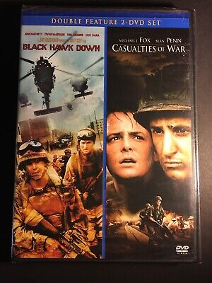 CASUALTIES OF WAR and BLACK HAWK DOWN DVD Double Feature War Sealed NEW
