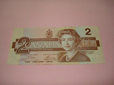 1986 - Canada $2 bill - Canadian two dollar note - AUG8222979
