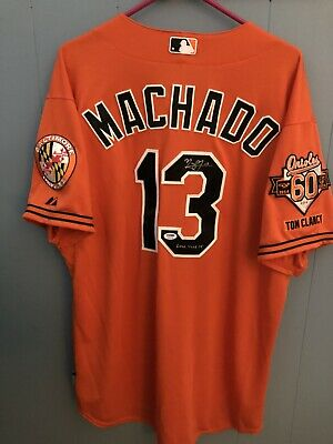 9ba1c739 2014 Manny Machado Game used Signed/Inscribed Baltimore Orioles Jersey (PSA/DNA)