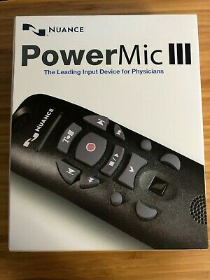 Nuance PowerMic III Speech Recognition Dictation Microphone 3ft Cord 0POWM3N3