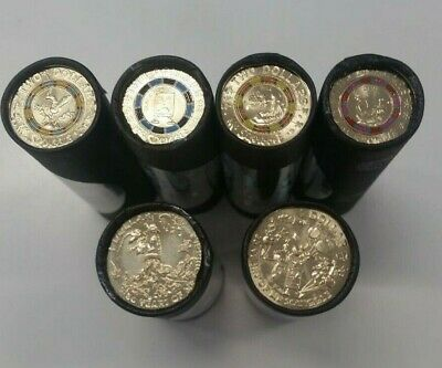 2019 Mr Squiggle Coin Roll Set Full Set 4 X $2 Rolls & 2 X $1 Rolls