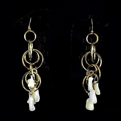 HSN R J Graziano Mother of Pearl Multiple Circle Drop Earrings $99