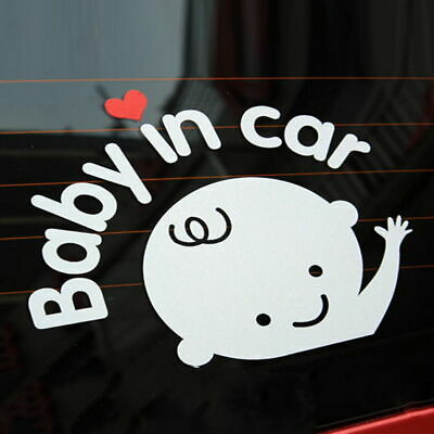 1 CAR  STICKER  REFLECTIVE    BABY  IN CAR decal  Australia , waterproof,