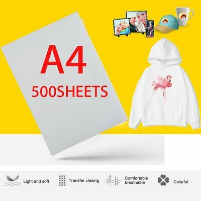 500 Sheets A4 Dye Sublimation Heat Transfer Paper for Polyester Cotton T- Shirt