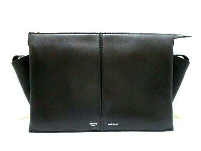 3eb7ade3f0 CELINE DARK CLAYCOURT Smooth Leather Trifold Clutch Bag -  1