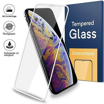For iPhone XS Max XR X 3D Curved Screen Protector Full Cover Tempered Glass