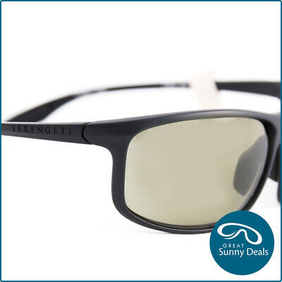 224406933c6d Serengeti Ponza Black Satin Grey Green Polarised PHD 555 Sunglasses (8616)