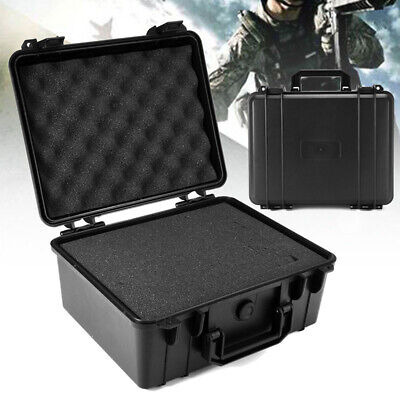 Portable  ABS Black Waterproof Hard Plastic Case Bag Tool Storage Box Organizer
