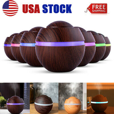 500ml LED Ultrasonic Aromatherapy Essential Oil Diffuser Fountain Air Humidifier