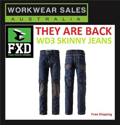 FXD WD-3 WD3 Slim fit Work Jeans Workwear Skinny Leg Mens Pants Are BACK.
