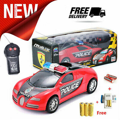 TOYS ELECTRIC LED Lighting Remote Control Car RC Police Cars Kids Toy Xmas  Gift