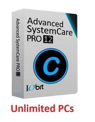 Advanced SystemCare 12 PRO - 1 Year License | Unlimited PCs | Fast Delivery