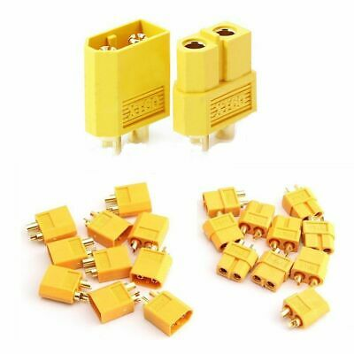 Safety 10PCS AMASS XT60 RC Lipo Battery Connectors Plugs Male Female Bullet