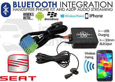 Seat Ibiza Bluetooth music streaming adapter handsfree CTASTBT003 AUX iPhone car