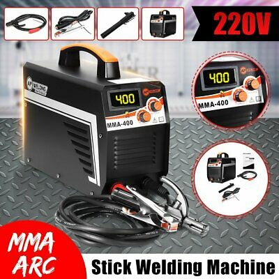 MMA 400A Digital Stick Welder 220V IGBT Inverter Welding Portable + Clamp + Mask