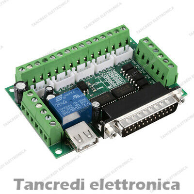 Scheda di interfaccia cnc 5 assi parallela breakout board mach 3 stepper motor
