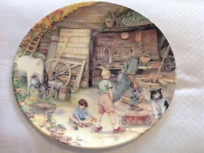 Royal Doulton Collectors Plate The Wheelwright From Old Country Crafts 1991